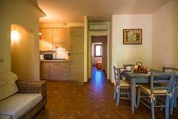 Cucina e sala da pranzo Appartamento Cielo