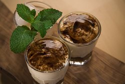 Homemade Tiramisu Verrines - Ladyfingers dipped in coffee, layered with a whipped mixture of eggs, sugar, and mascarpone cheese, flavoured with cocoa. Lick your lips and clap your hands we will be bowing after your first spoonful.