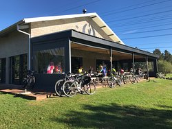 We are bike friendly and love having the cyclists at the Taproom.