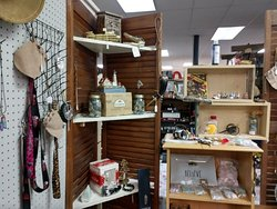 Various items on sale at Miller's crossing