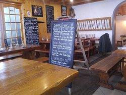 varied menu on blackboards