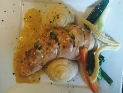 Stuffed Chicken and Mashed potatoes- The best