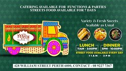 open 7 days for lunch dinner & street food