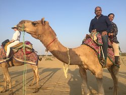 Enjoying Camel ride at Jaiselmer