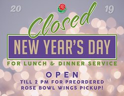 Terry's Kitchen Closure New Year's Day 2019