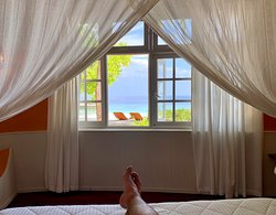 View of the private beach fro the master bedroom