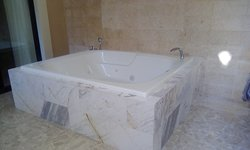 Jacuzzi tub on our terrace