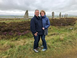 Sometime you want to be in the picture too!  David was a gentleman and accommodated our request here at the Ring of Brodgar. Thank you for the exceptional day!