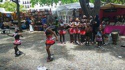 Local children dancers