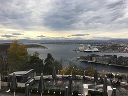 View over Oslo-fjord from the 2nd floor of the restaurant, including the outdoor terrace.