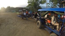 Agrotourism with local farm tractor ride