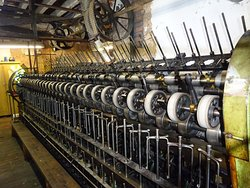 looms and spinning machines powered by belts