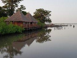 nieuwe VIP rooms aan de rand van de mangrove