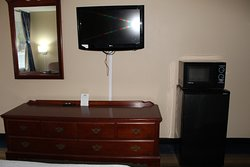 all rooms have a flat screen tv and micro and fridge