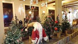 decoraciones navideñas, ya que fuimos en diciembre