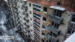 Abandoned building in the ghost city of Pripyat