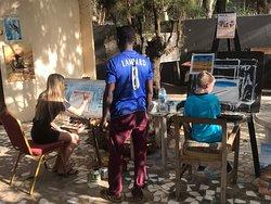 Art school with Dawda