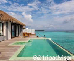 The Water Pool Villa at the Noku Maldives