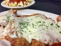 Veal Parmigiana a dinner special, Saturdays in January.
