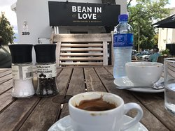 enjoying a nice afternoon coffee