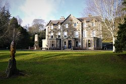 The winter sun catches the beautiful Wilton Lodge, home of Hawick Museum.