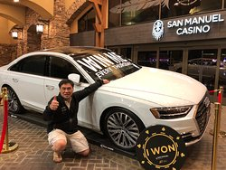 Club Serrano Member Wei won an Audi A8 on Jan. 3 at San Manuel Casino.