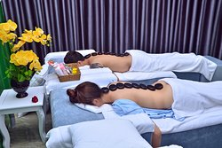 Pictures to illustrate massage process