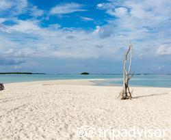 Beach at the Soneva Jani