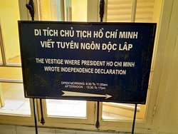 One of our favourite memories from Hanoi was this memorial house, good exhibits and explanations