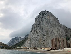 the rock from the beach