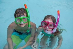 Kids Snorkling in Pool