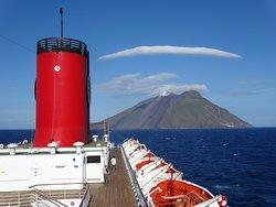 ストロンボリ島の雲