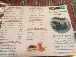 Page 1 of the Menu as of January 2019