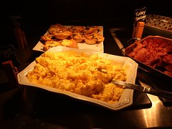 Many items to choose from on the Breakfast buffet.