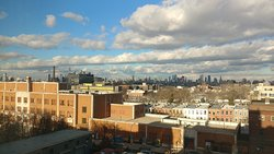 View of the Manhattan Skyline from my room (611)