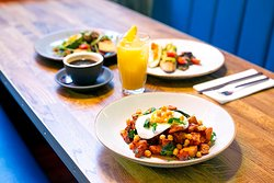 A selection of brunch dishes - Available Saturdays and Sundays until 4pm.