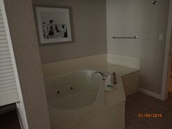 separate room with jacuzzi tub