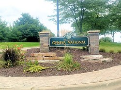entrance to geneva national resort