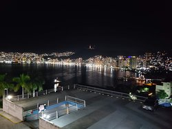 Amazing night set up by Roberto at the top of the Acapulco Bay