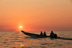 Sunset in Tonle Sap Lake