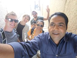 with our Guests from Texas USA at the pyramids Giza