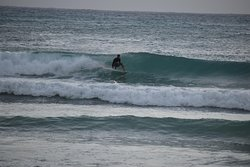 Surfing Freight's Bay Barbados, between surfing lessons at Ride The Tide Surf School and sending out surfboard rentals