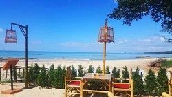 "Khao Lak Restaurant the name is ""Pinky Beach at Pak Weep Restaurant $ Bar"""