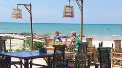 """Khao Lak Restaurant the name is """"Pinky Beach at Pak Weep Restaurant $ Bar"""" Best location seaview on the Pak weep Beach"""