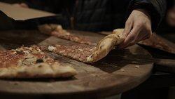 Italian pizza in Ohrid
