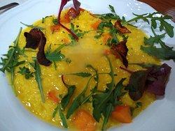 pumpkin risotto with sparkling wine Frizzante