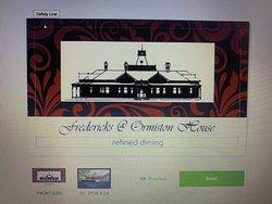 Fredericks at Ormiston House