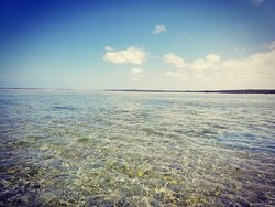 Travelling on the way back from St Sabatian - crystal clear waters