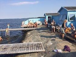Miljø fra Bandholm badeanstalt