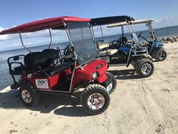 New carts! Including a 6 seater! Let us know if you have a big group coming to the island.
